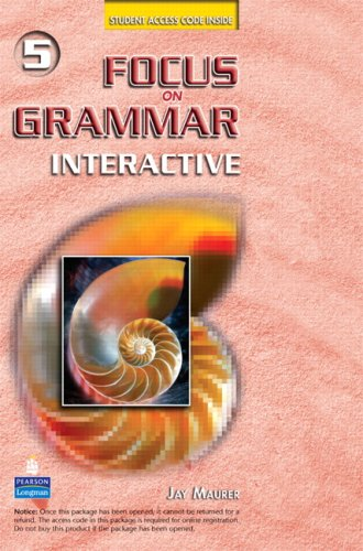Focus on Grammar Interactive 5, Online Version (Access Code Card)   2008 edition cover