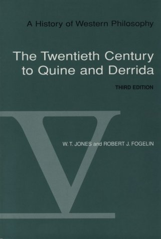 History of Western Philosophy The Twentieth Century of Quine and Derrida 3rd 1997 (Revised) edition cover