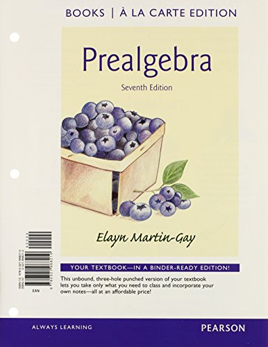 Prealgebra Books a la Carte Edition Plus NEW MyMathLab with Pearson EText -- Access Card Package  7th 2015 edition cover