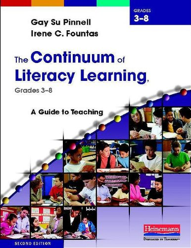Continuum of Literacy Learning, Grades 3-8 A Guide to Teaching 2nd 2013 edition cover