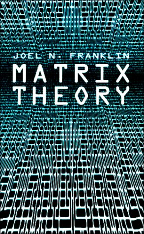Matrix Theory  N/A edition cover