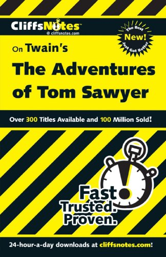 CliffsNotes on Twain's the Adventures of Tom Sawyer   2001 edition cover