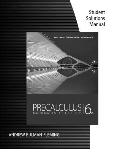 Precalculus Mathematics for Calculus 6th 2012 edition cover