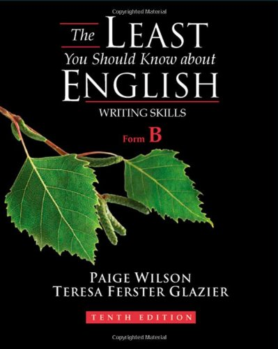 Least You Should Know about English, Form B  10th 2010 edition cover