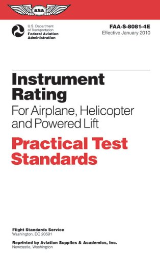 Instrument Rating for Airplane, Helicopter and Powered Lift  N/A edition cover