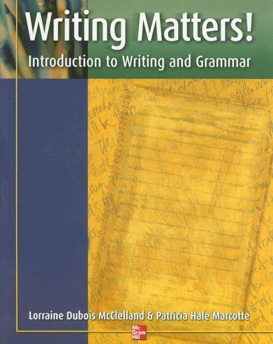 Writing Matters! Introduction to Writing and Grammar  2002 (Student Manual, Study Guide, etc.) 9780072552799 Front Cover