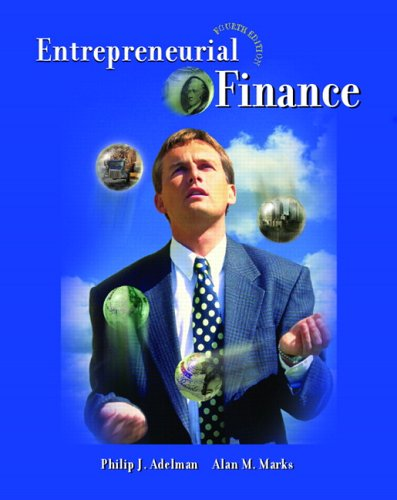 Entrepreneurial Finance  4th 2007 (Revised) edition cover