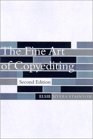 Fine Art of Copyediting  2nd 2002 edition cover