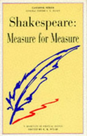 "Shakespeare's ""Measure for Measure""   1971 edition cover"
