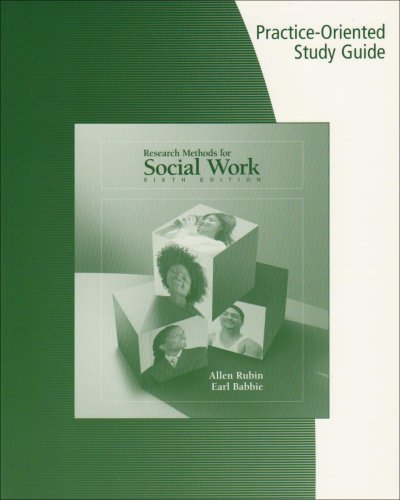 Research Methods for Social Work  6th 2008 9780495100799 Front Cover