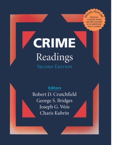 Crime Readings 2nd 2001 (Revised) 9780761986799 Front Cover