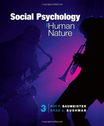 Social Psychology and Human Nature 3rd 2013 edition cover