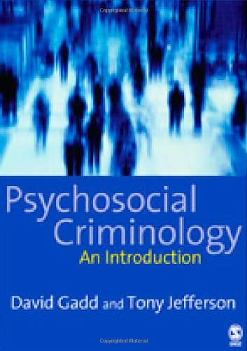 Psychosocial Criminology   2007 9781412900799 Front Cover
