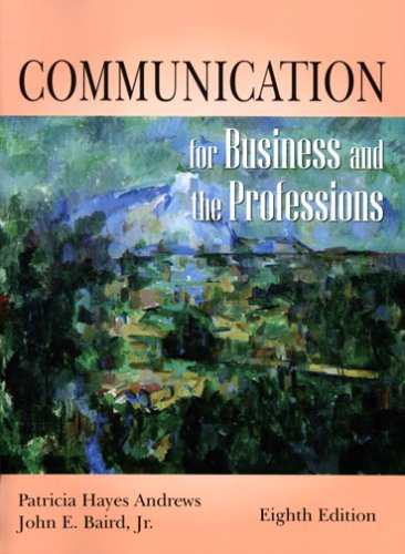 Communication for Business and the Professions  8th 2005 edition cover