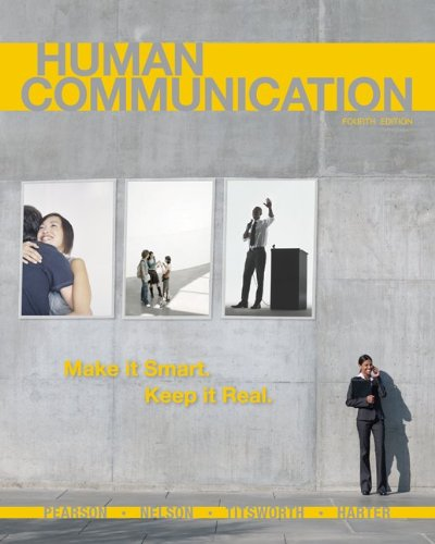 Human Communication  4th 2011 edition cover