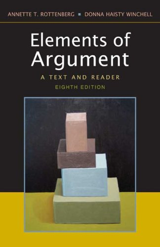 Elements of Argument 8e A Text and Reader 8th 2006 edition cover