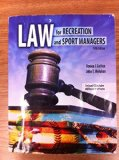Law for Recreation and Sport Managers  5th 2010 (Revised) edition cover