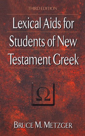 Lexical Aids for Students of New Testament Greek  3rd edition cover