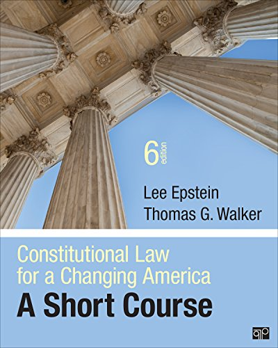 Constitutional Law for a Changing America A Short Course 6th 2015 (Revised) edition cover