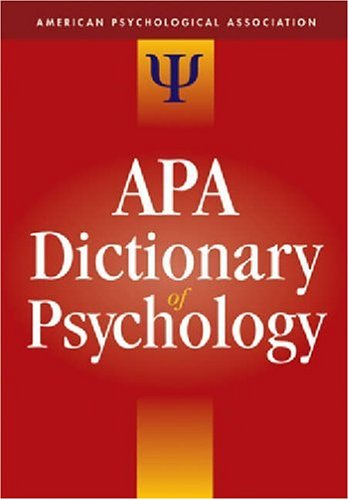 APA Dictionary of Psychology   2006 9781591473800 Front Cover