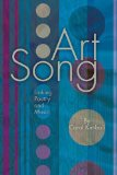 Art Song Linking Poetry and Music  2013 edition cover