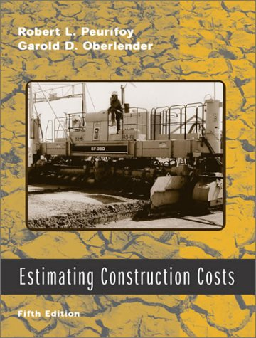 Estimating Construction Costs  5th 2002 edition cover