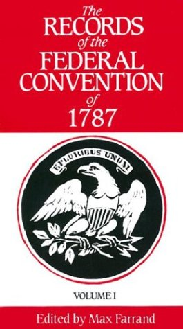 Records of the Federal Convention of 1787  Revised  9780300000801 Front Cover
