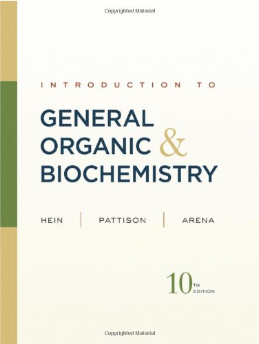 Introduction to General Organic and Biochemistry  10th 2012 edition cover