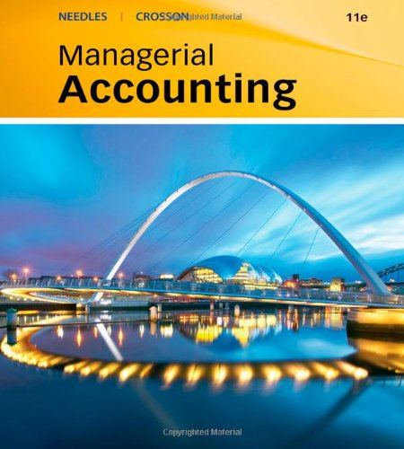 Managerial Accounting  9th 2010 9780538742801 Front Cover