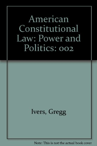 American Constitutional Law Civil Rights and Liberties  2002 9780618239801 Front Cover