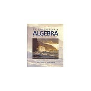 Elementary Algebra with Applications 3rd edition cover