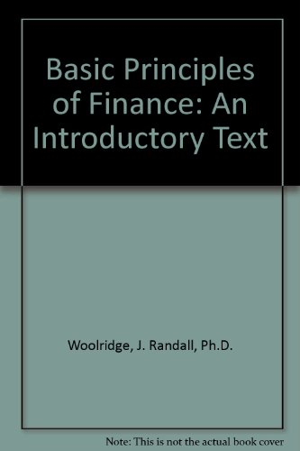 Basic Principles of Finance An Introductory Text Revised  edition cover