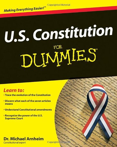 U. S. Constitution for Dummies   2009 edition cover