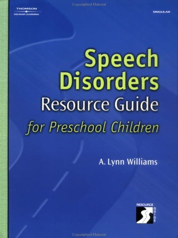 Speech Disorders Resource Guide for Preschool Children   2003 edition cover