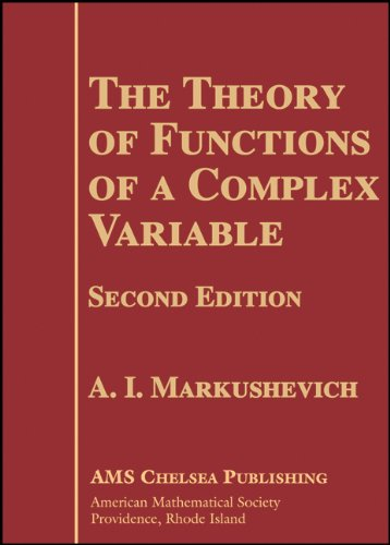 Theory of Functions of a Complex Variable  2nd 2005 (Revised) edition cover