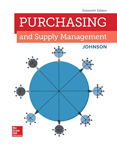 Loose Leaf for Purchasing and Supply Management  16th 9781260394801 Front Cover