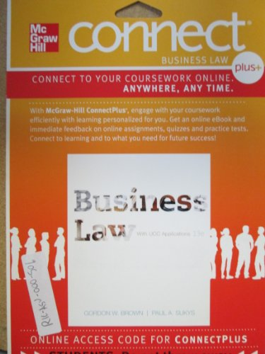 BUSINESS LAW W/UCC APPL.-CONNE N/A 9780077488802 Front Cover