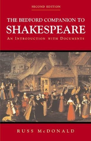 Bedford Companion to Shakespeare An Introduction with Documents 2nd 2001 edition cover