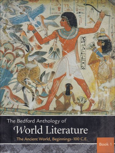 Bedford Anthology of World Literature  N/A edition cover