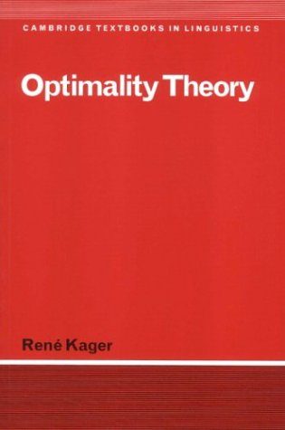 Optimality Theory   1999 edition cover