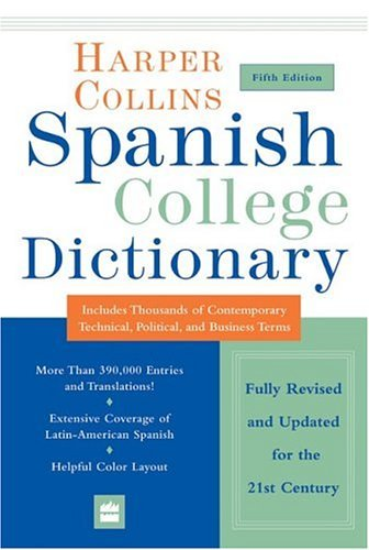 HarperCollins Spanish College Dictionary  5th 2004 edition cover