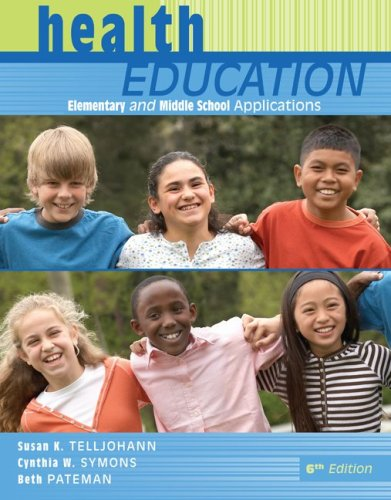 Health Education Elementary and Middle School Applications 6th 2009 edition cover