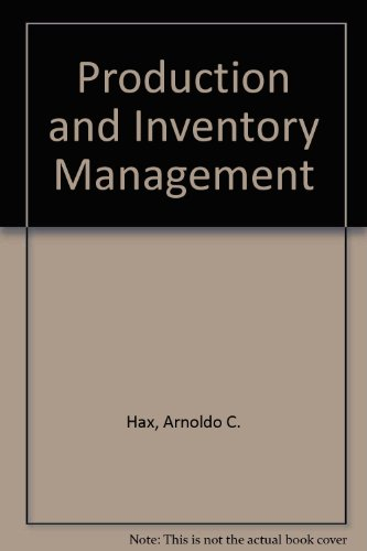 Production and Inventory Management  1984 9780137248803 Front Cover