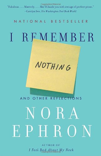 I Remember Nothing And Other Reflections N/A edition cover