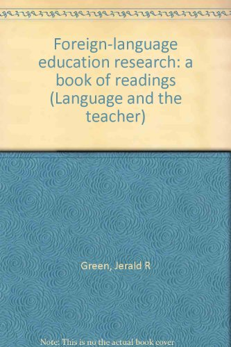 Foreign-Language Education Research : A Book of Readings  1973 9780528640803 Front Cover
