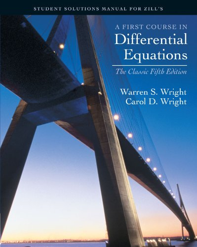 First Course in Differential Equations  5th 2001 (Revised) 9780534382803 Front Cover