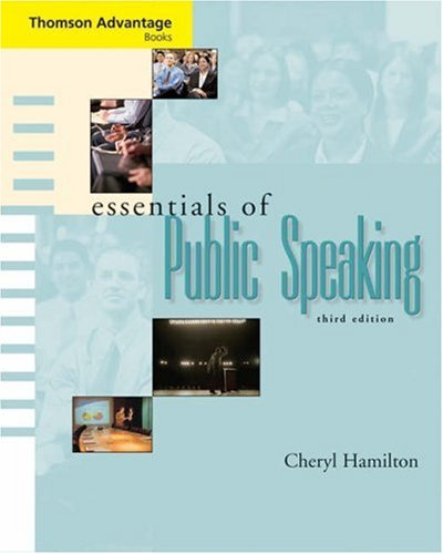 Essentials of Public Speaking  3rd 2006 (Revised) 9780534647803 Front Cover