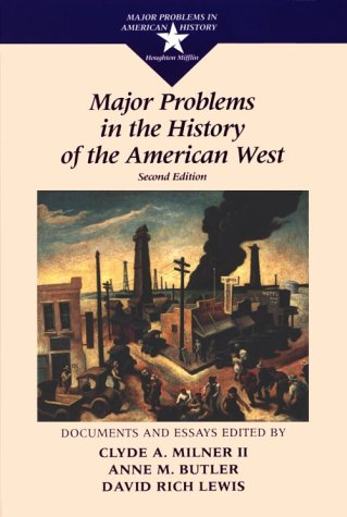 Major Problems in the History of the American West  2nd 1997 edition cover