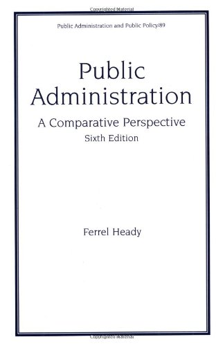 Public Administration - A Comparative Perspective  6th 2001 (Revised) edition cover