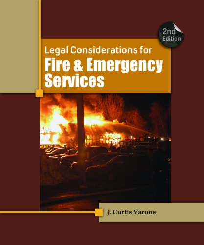 Legal Considerations for Fire and Emergency Services  2nd 2012 edition cover